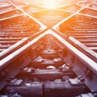 Professional search firm, tracks crossing
